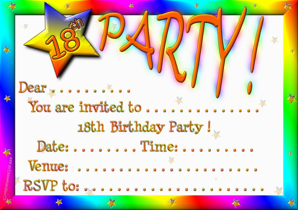 Stunning 18th Birthday Invitations Ideas - Invitation Card Ideas ...