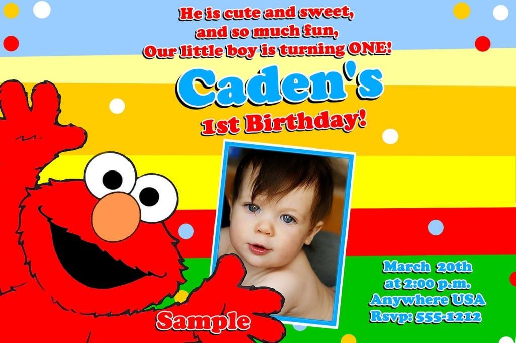 1st Birthday Invitation Wording Elmo