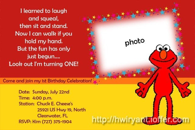 1st Birthday Invitations Free Template 2