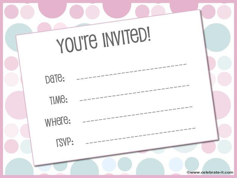1st Birthday Invitations Free Template 3