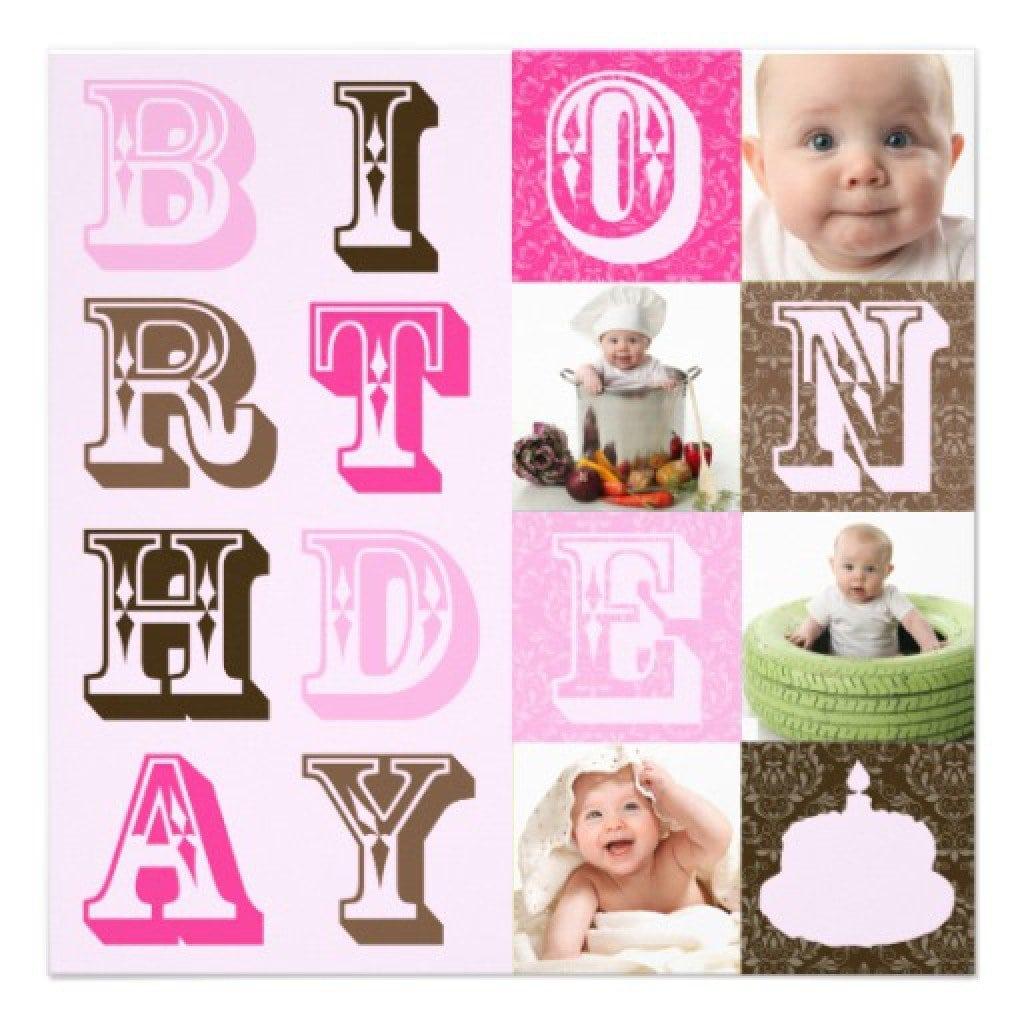 1st Birthday Invitations Free Template 4