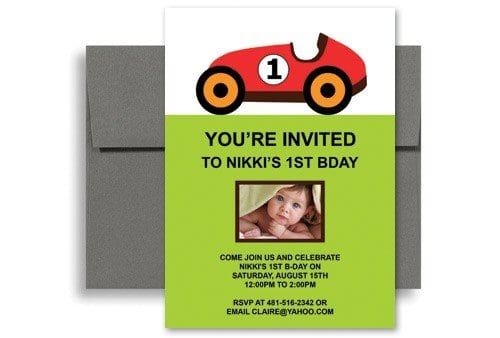 1st Birthday Invitations Free Template 5