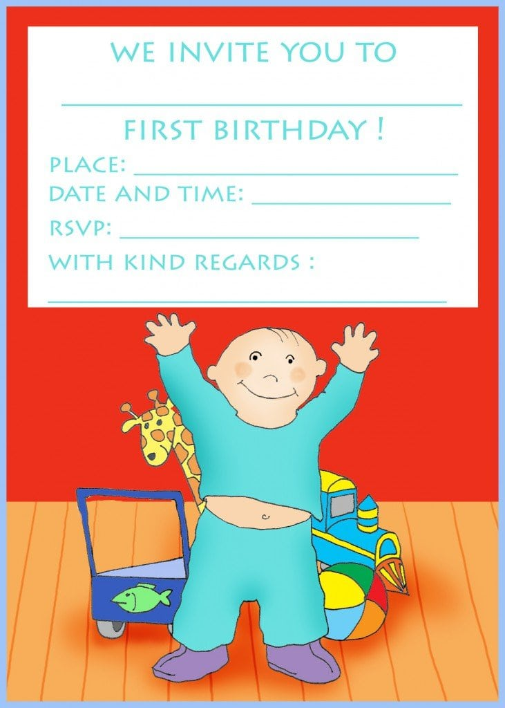 1st Birthday Invitations Free Template