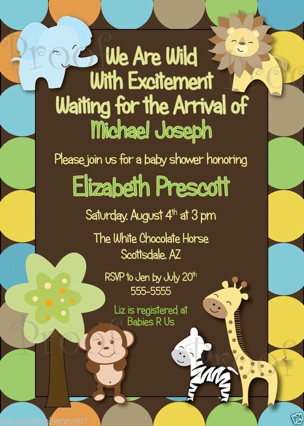 1st Birthday Leopard Invitations 5