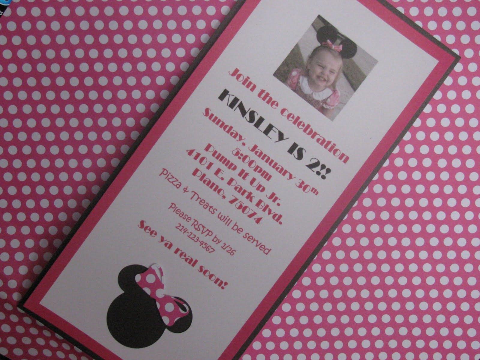 1st Birthday Minnie Mouse Free Invitation Template 2