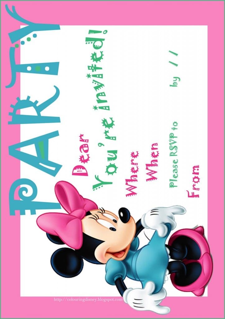 St Birthday Minnie Mouse Free Invitation Template - Minnie mouse 1st birthday invitations templates