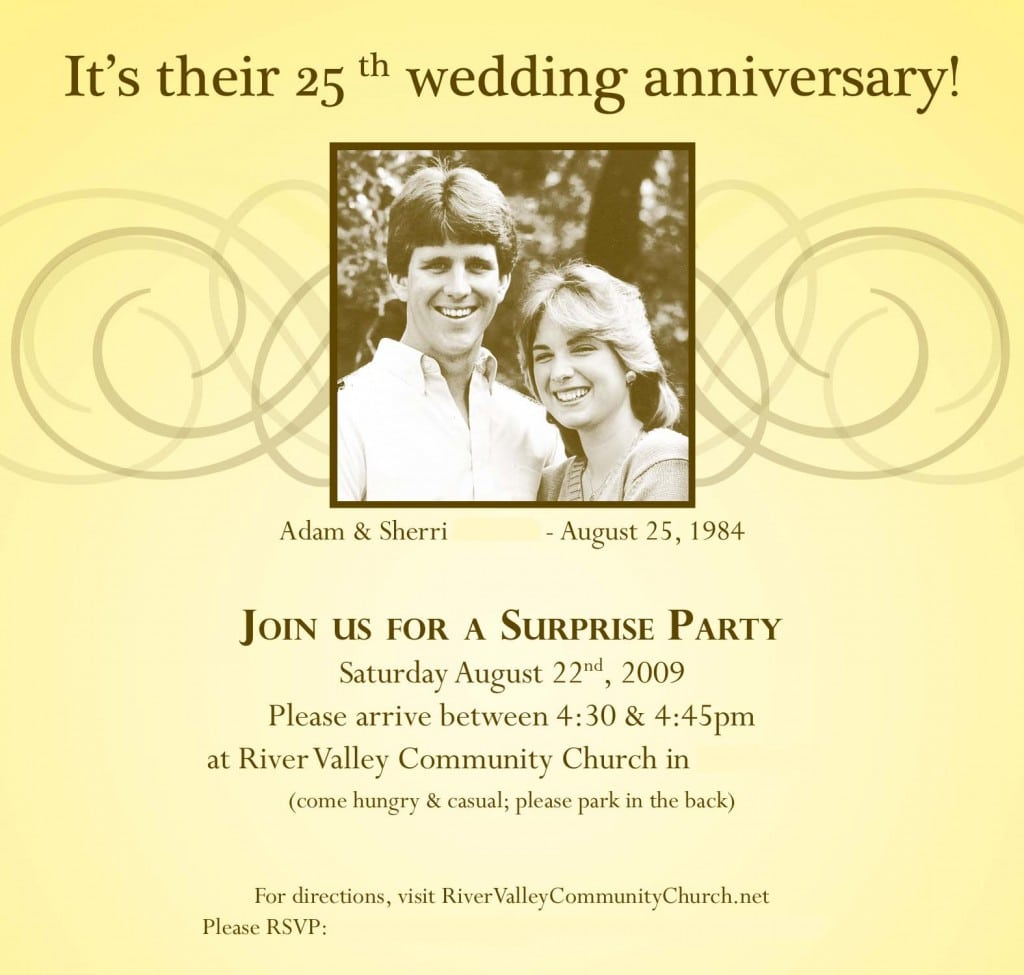 25 Wedding Anniversary Invitations Wording