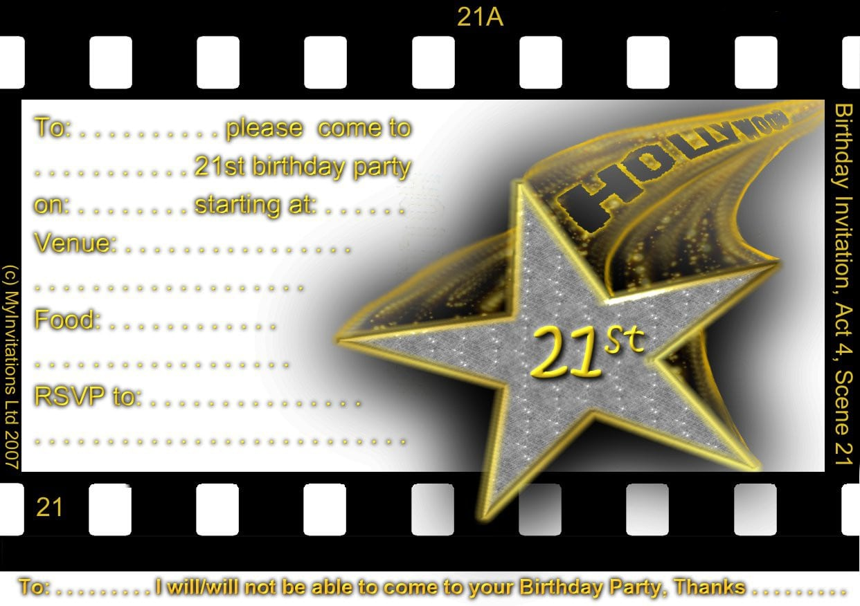 40th Birthday Invitation Templates Download