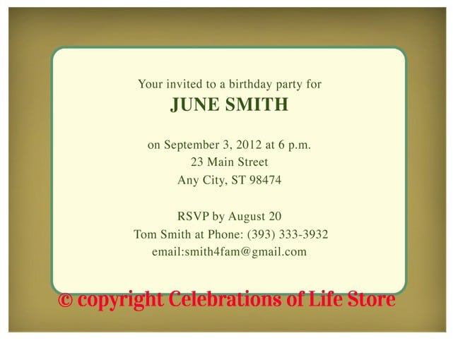 40th Birthday Invitation Templates Download 5