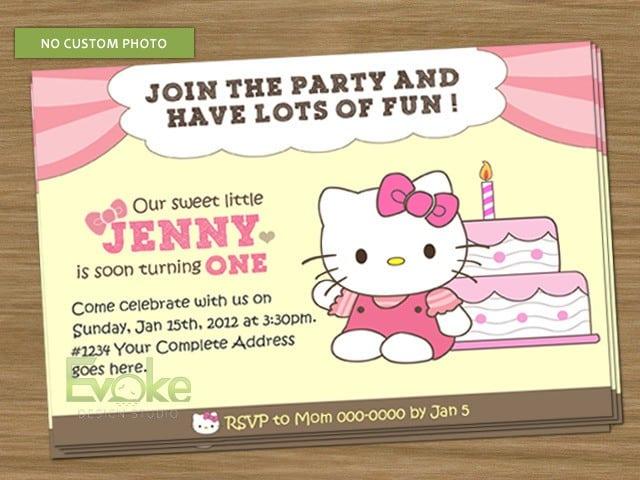 4r Hello Kitty Invitation