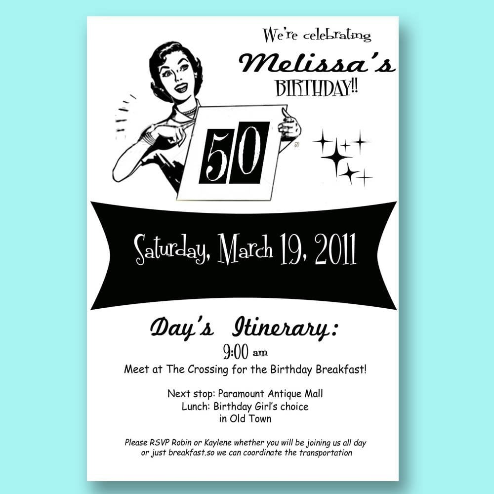 50 Years Birthday Invite Templates