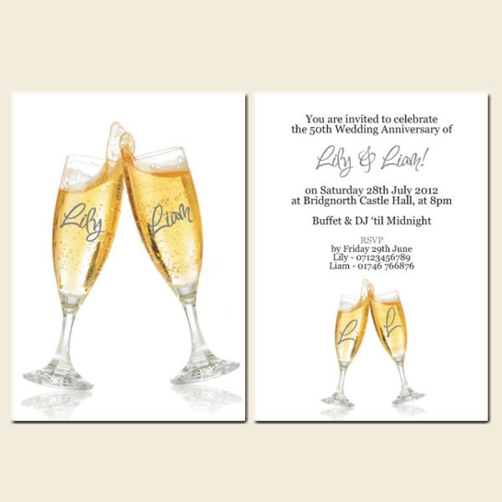 50th Wedding Anniversary Invitations Free Templates 4