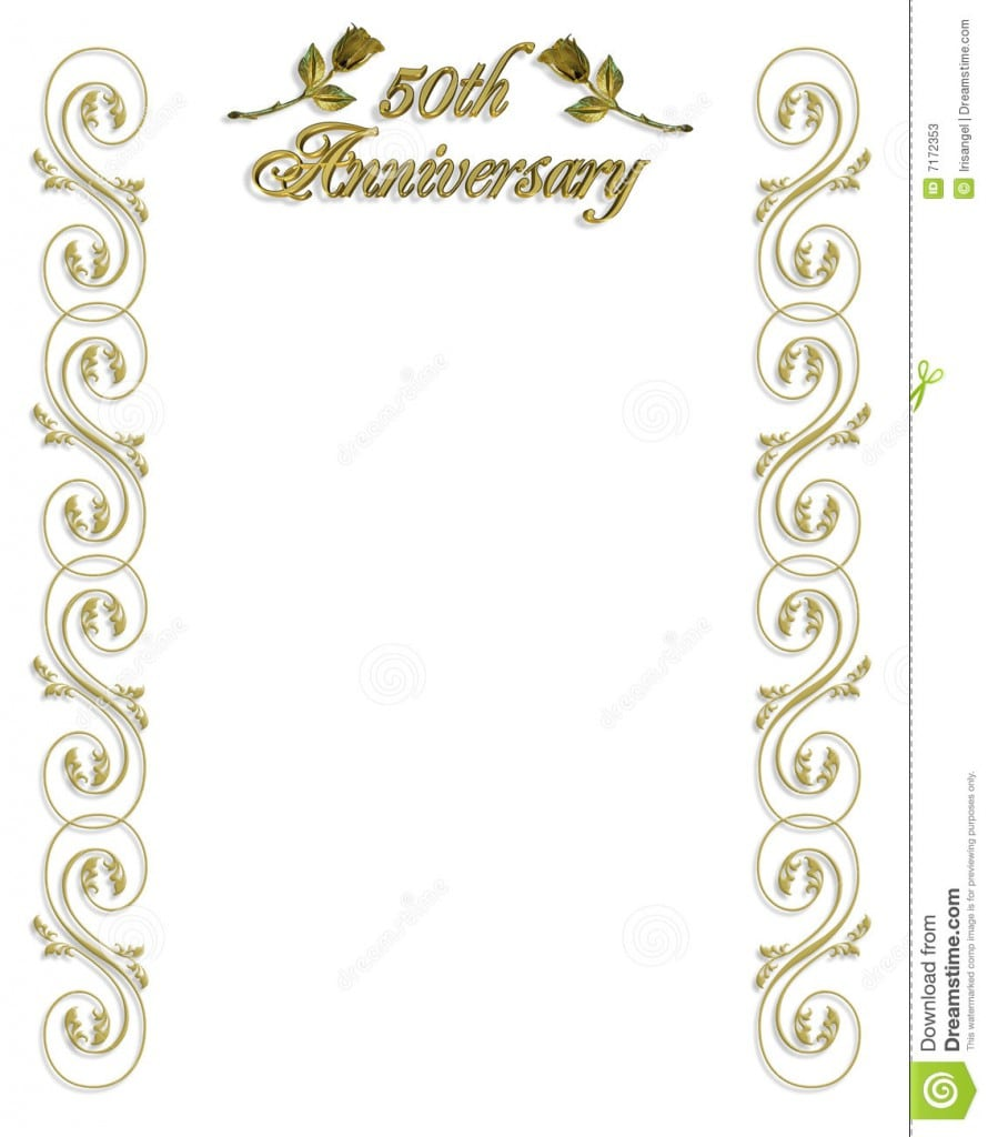 50th Wedding Anniversary Invitations Templates Free 3