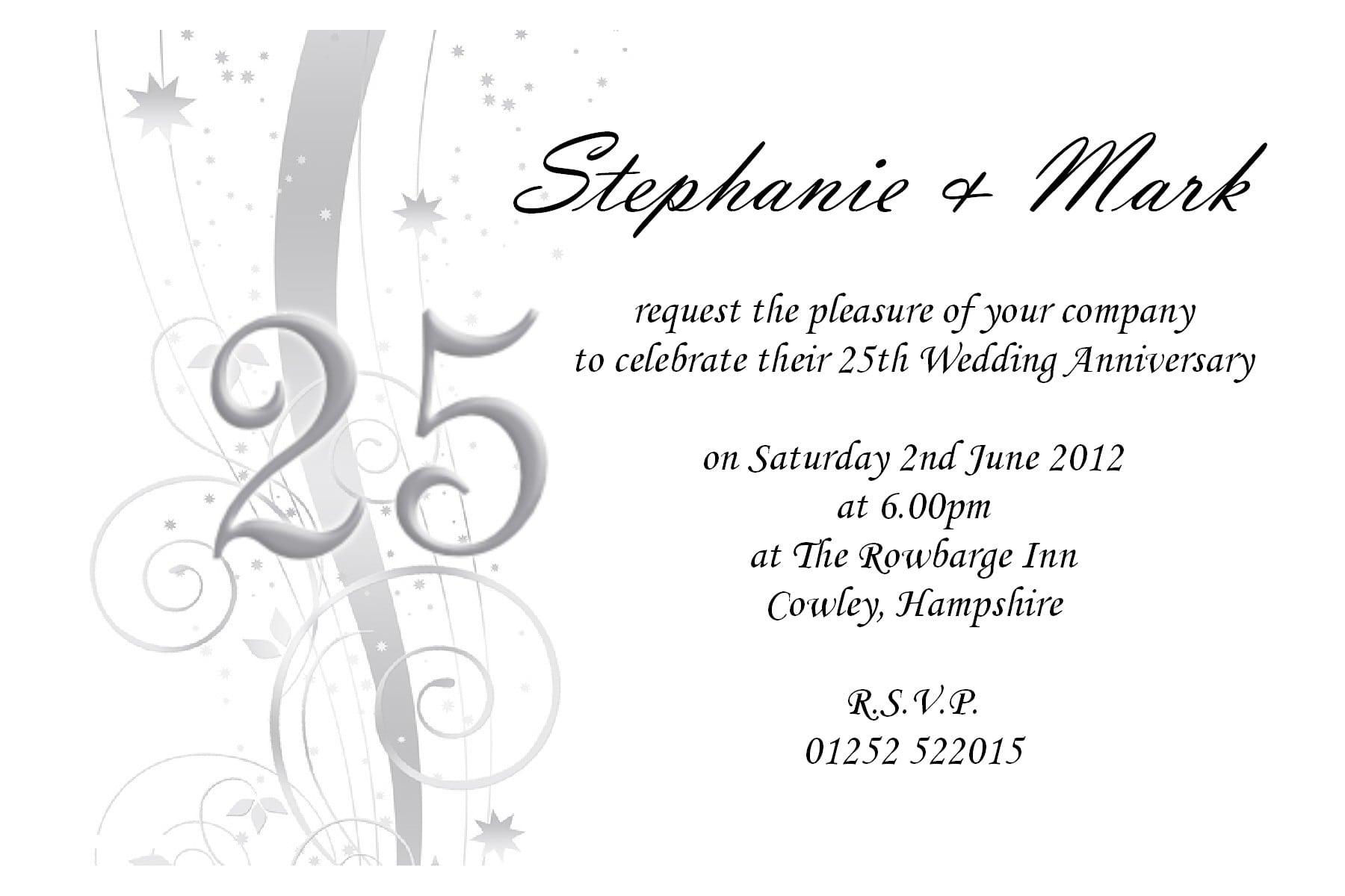 50th Wedding Anniversary Invitations Templates Free 5