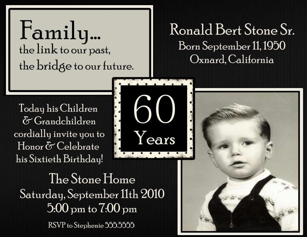 60 Birthday Invitation Ideas