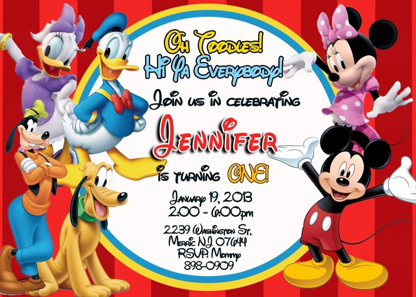 related to Free Printable Mickey Mouse Clubhouse Invitations Template NlEPh53T