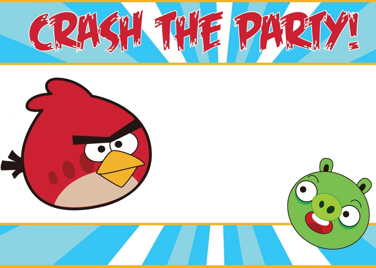 Angry Birds Invitation Template Free