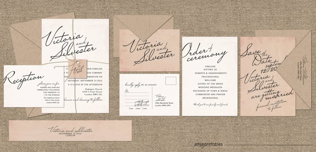 Antique Looking Wedding Invitations