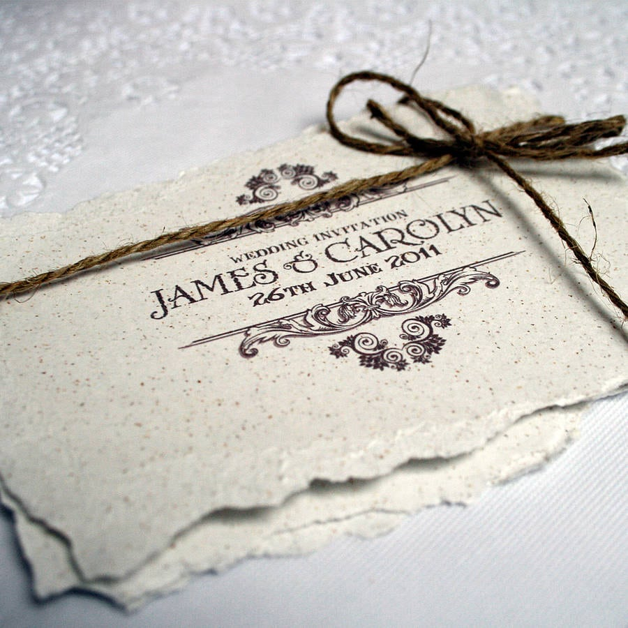 Antique Style Wedding Invitations