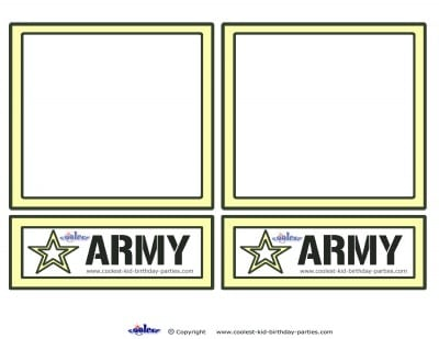 Army Birthday Party Invitations Printable 400 X 309