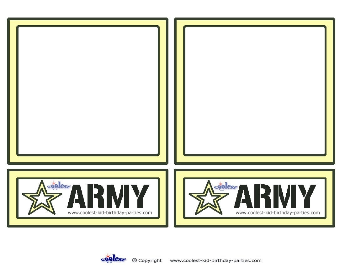 Army Birthday Party Invitations Free Printable Written By Ery Sponsored Links