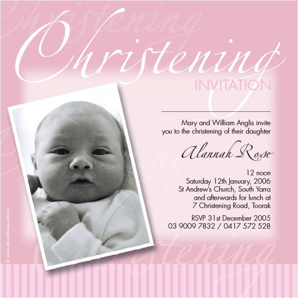 Baby Christening Invitation Templates 3