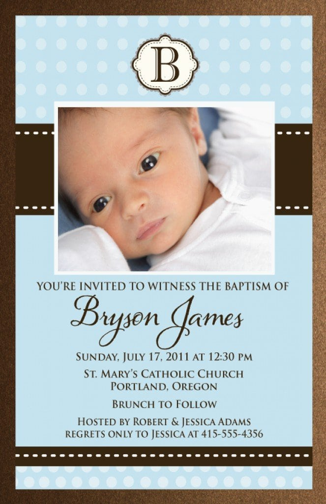 Baby Christening Invitation Templates 4
