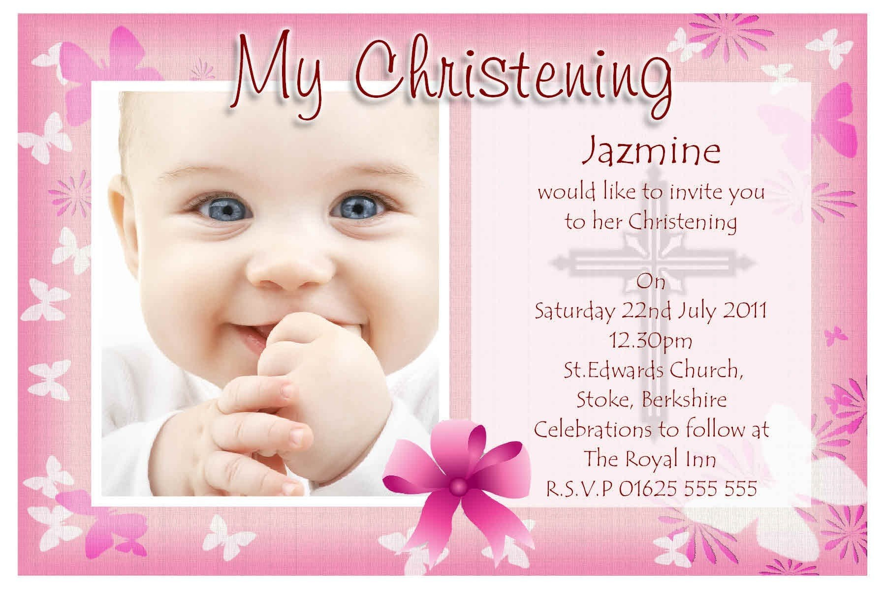 Baby Girl Dedication Invitations as awesome invitations layout