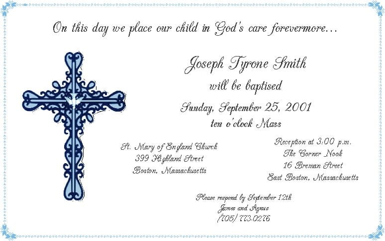 Baby Christening Invitations Templates Free 2