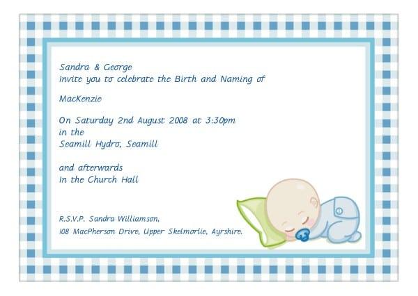 Baby Christening Invitations Templates Free