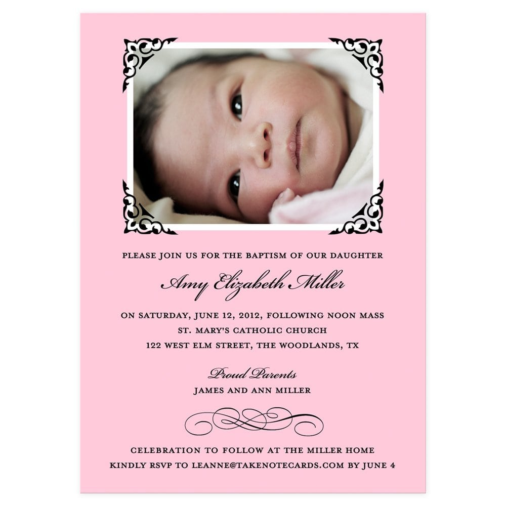 Baby Christening Invitations Wording