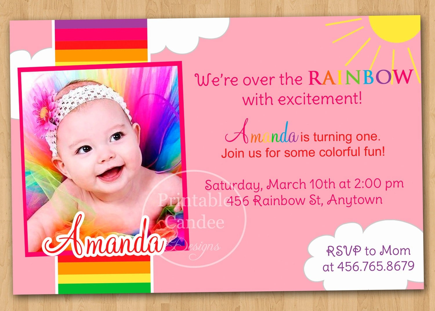 Baby First Birthday Invitation Templates Free