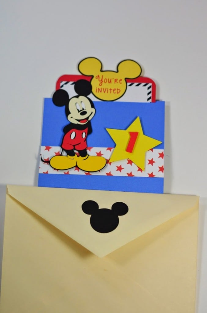 Baby Mickey Mouse Baptismal Invitation 5