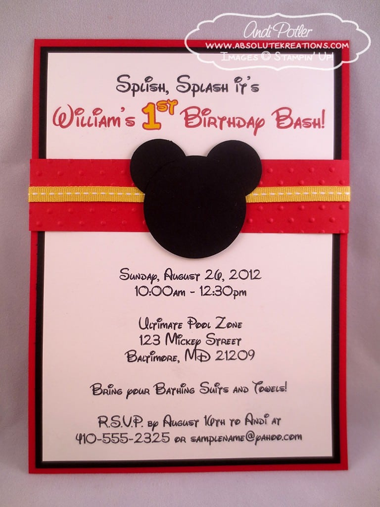 Baby Mickey Mouse Invite Template 2