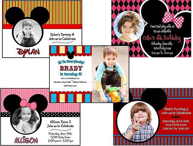 Baby Mickey Mouse Invite Template 4