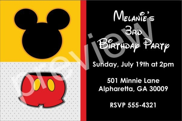Baby Mickey Mouse Invite Template 5