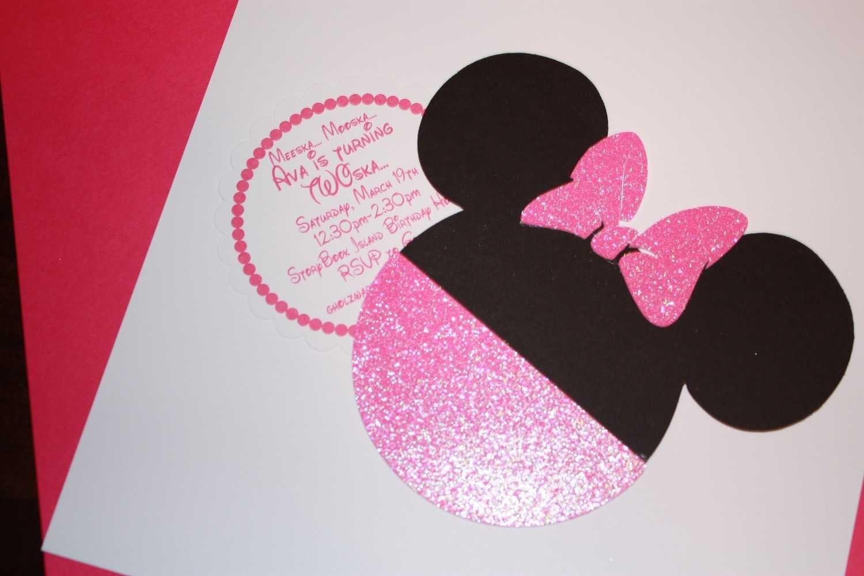 Baby Minnie Invite Template 2015