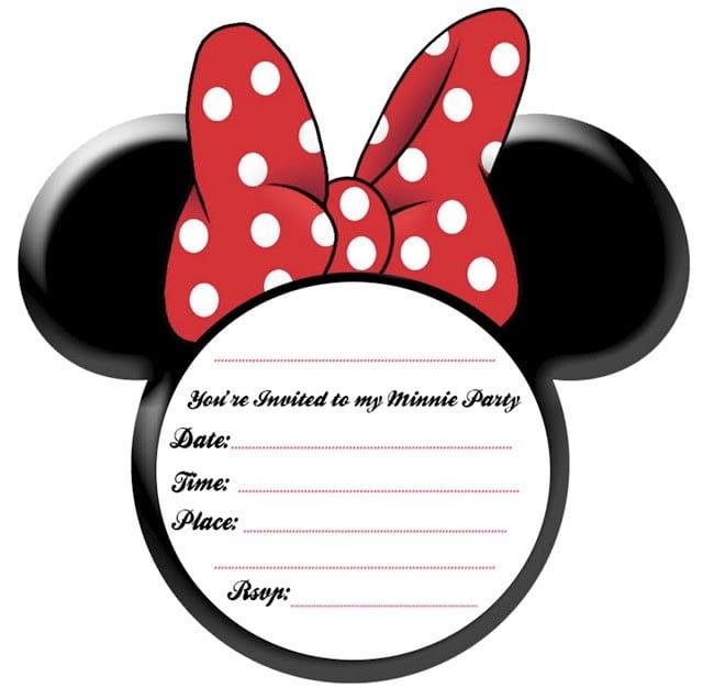 Baby Minnie Invite Template 2018