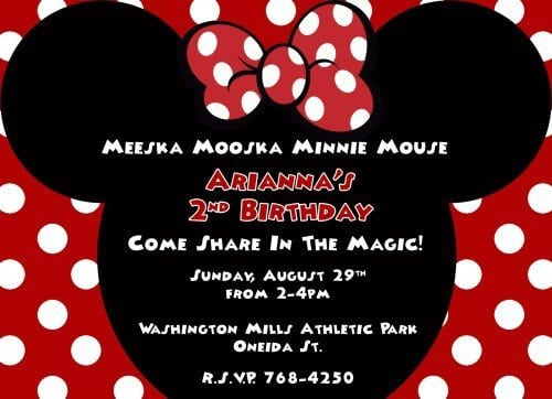 Baby Minnie Mouse Invitation Template Free 4