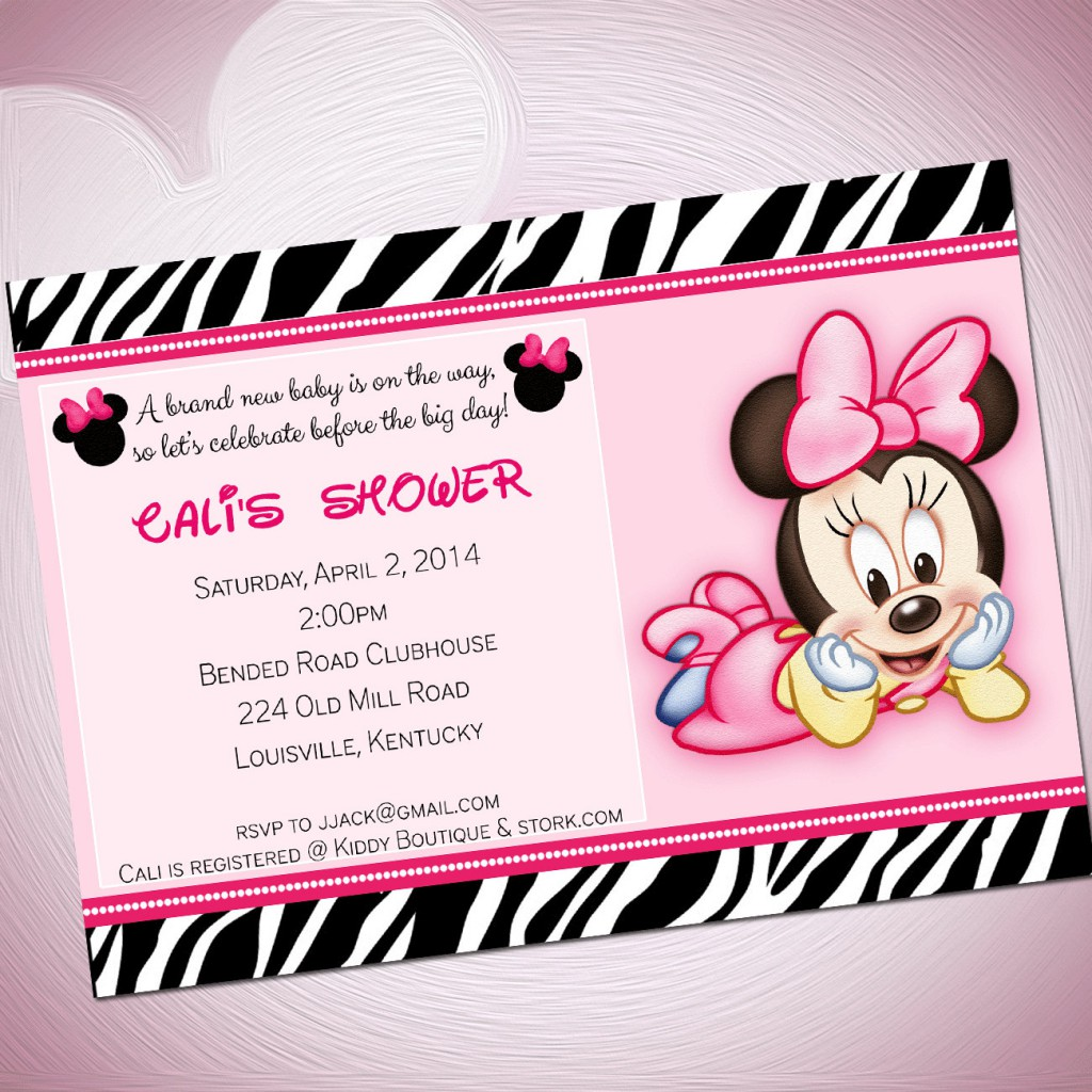Minnie Mouse Babyshower Invitations as luxury invitations layout