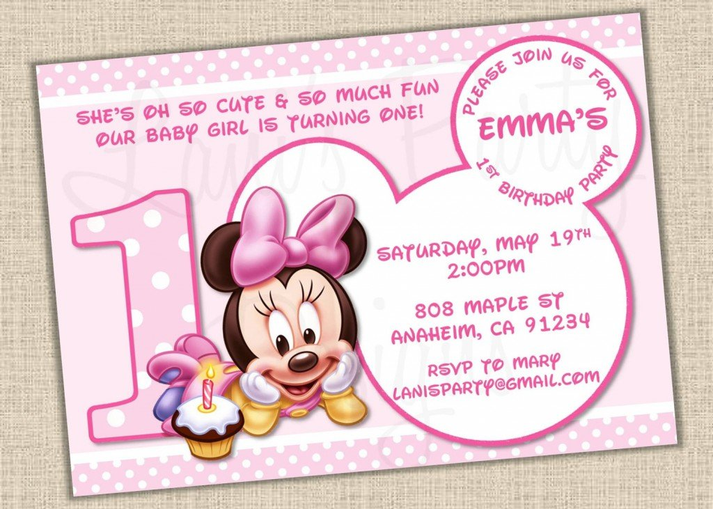 minnie mouse baby shower invitation templates