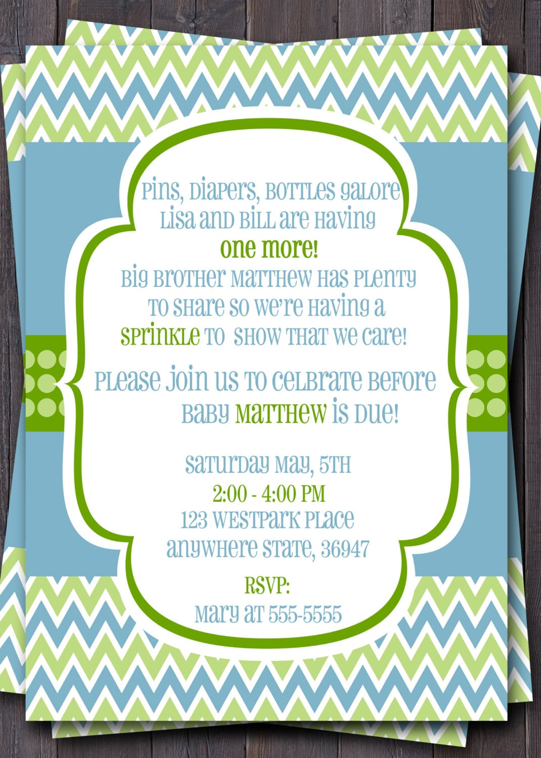Baby Sprinkle Invitations For Boy
