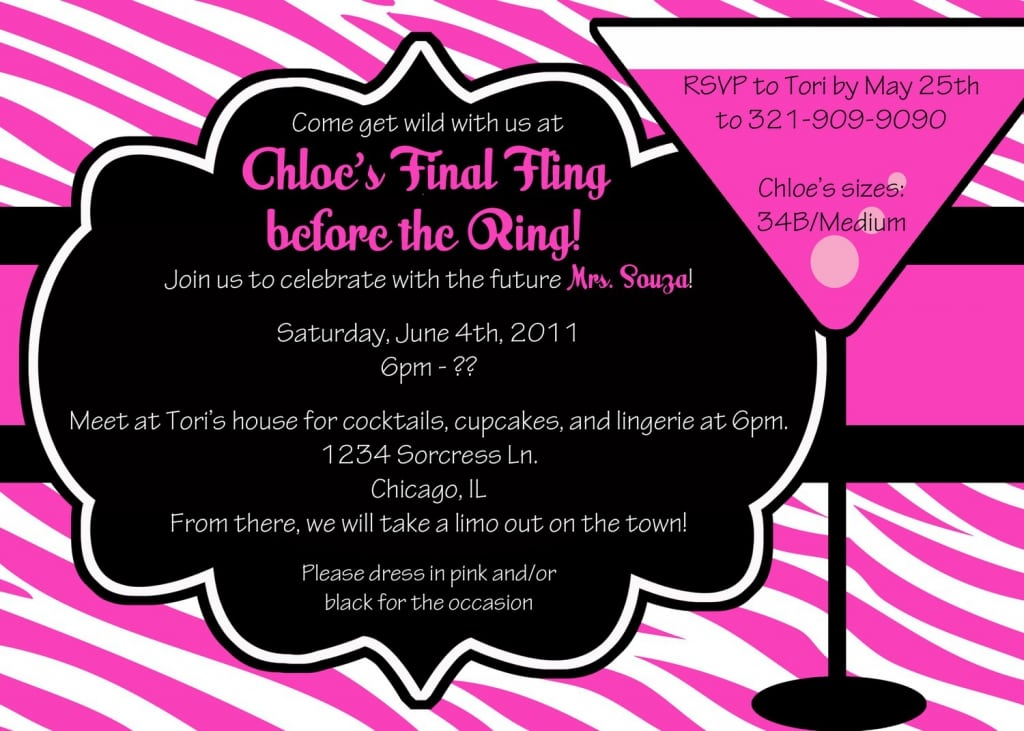 Bachelorette Party Invitations Free Online