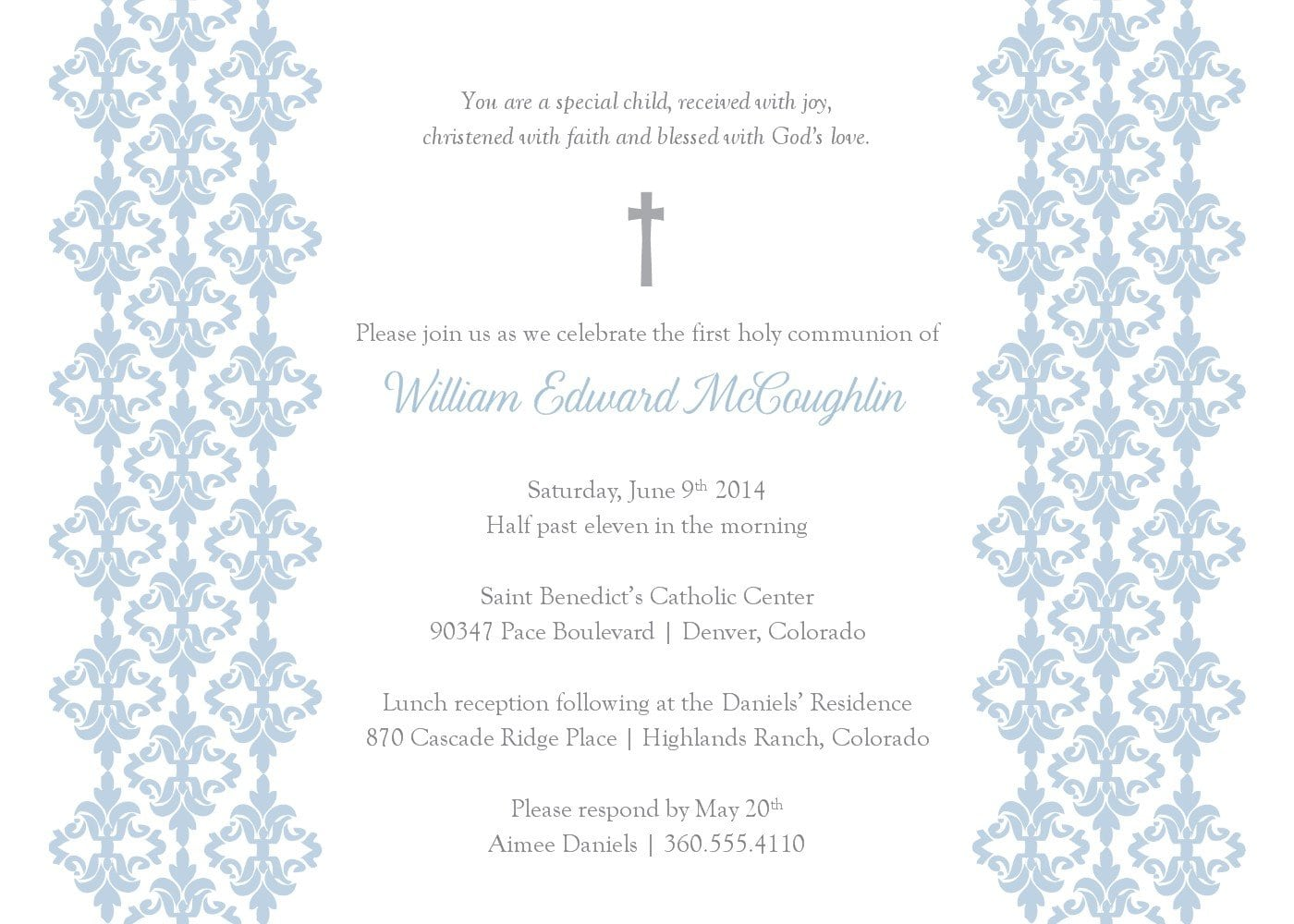 Baptism Invitation Template Free Download