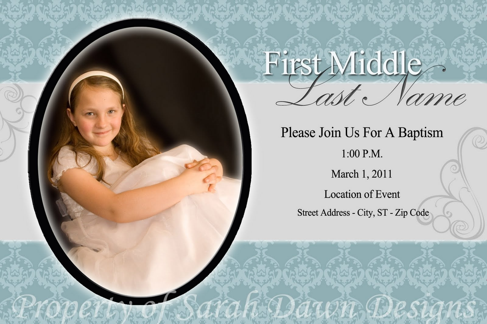Baptism Invitation Templates Photoshop
