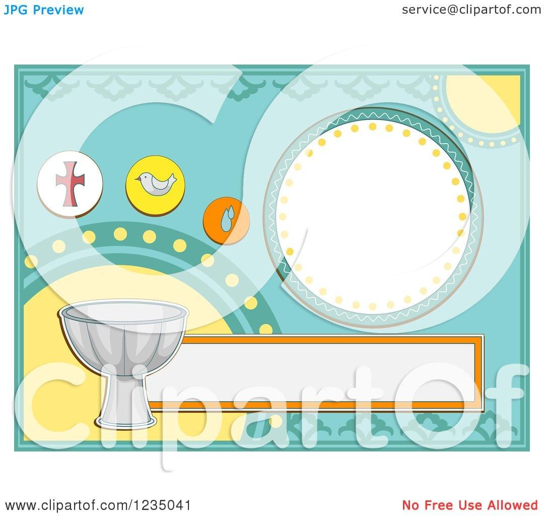 Baptism Invitation Vector Free