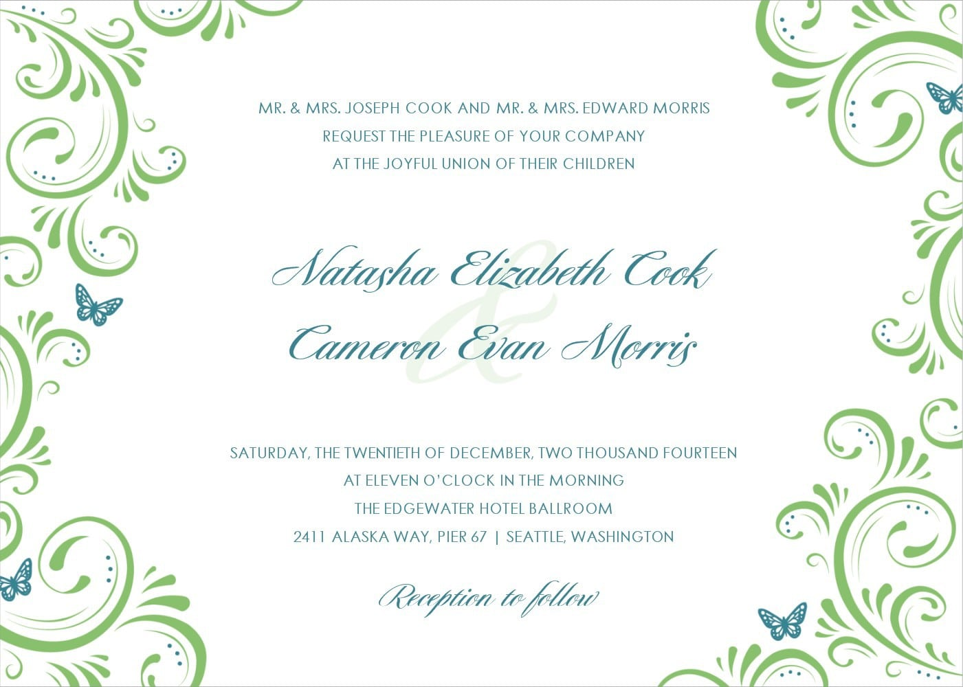 Second Marriage Wedding Invitation Template – Sample, Example Format ...