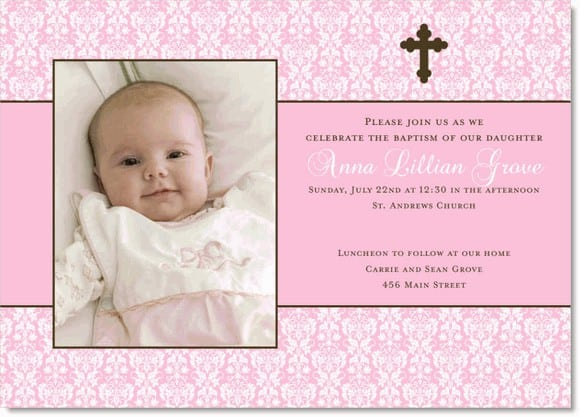 Baptismal Invitation For Girls 2