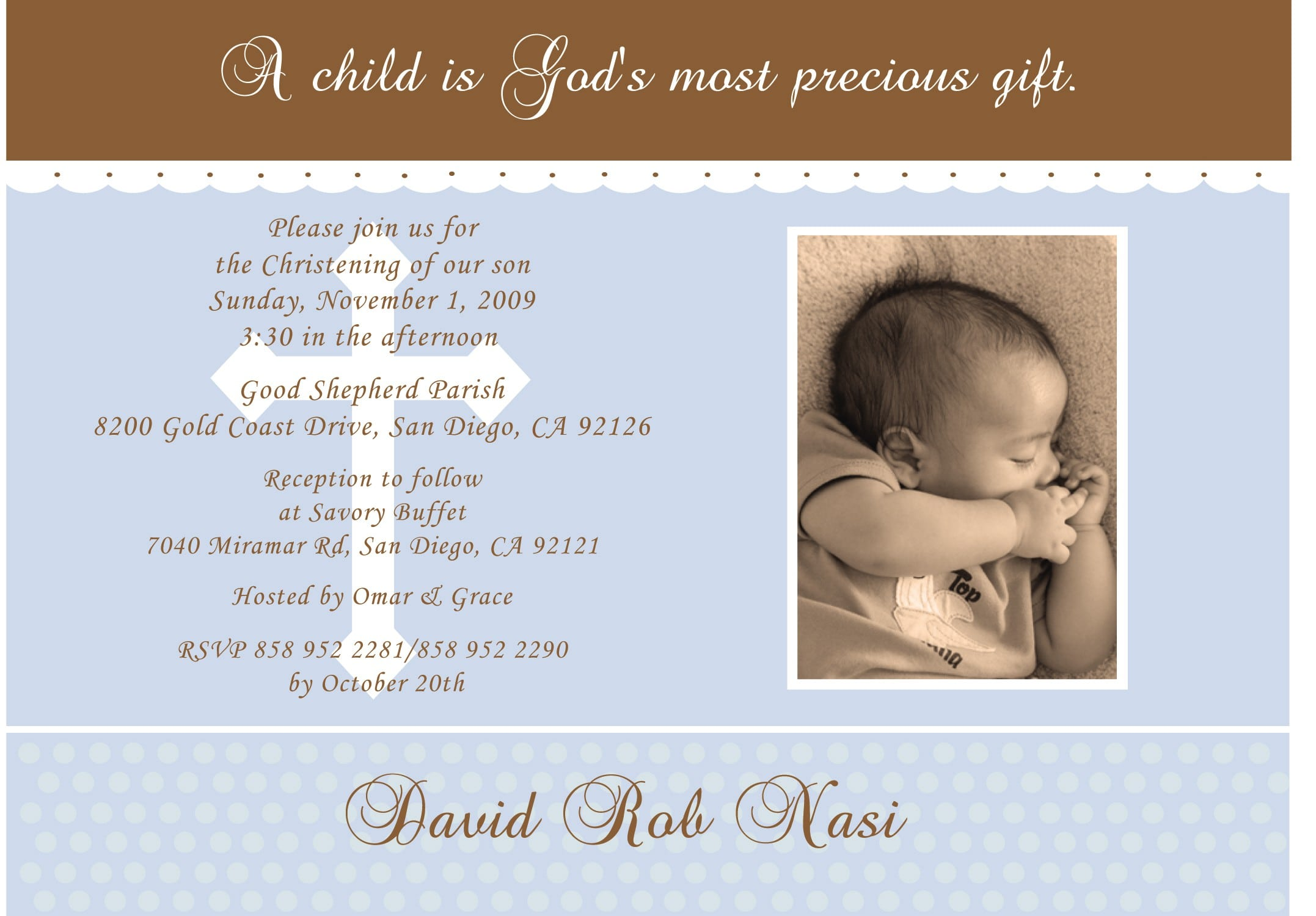 Baptismal Invitation Layout Templates 2