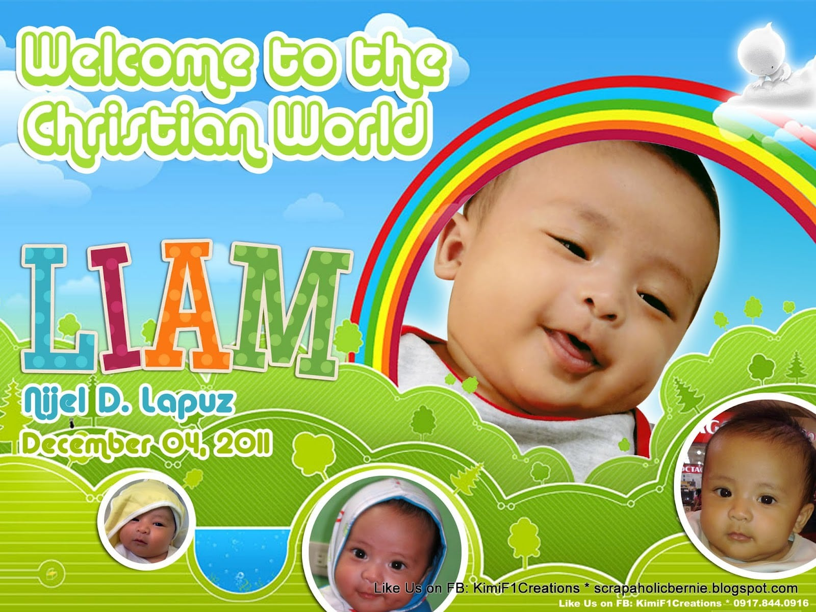 Baptismal Invitation Layout Templates 5